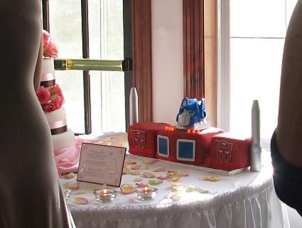 Optimus Prime Transformers groom's cake 3