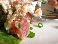 Tuna tartare up close