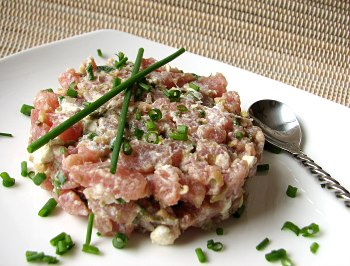 Tuna and Goat Cheese Tartare