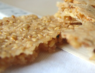 Sesame Seed Crisps from side